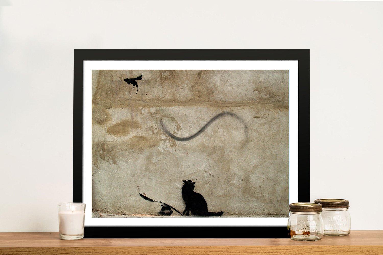 Framed Banksy Canvas Prints for Sale Online