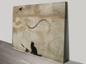 Banksy Cat & Mouse Graffiti Wall Art