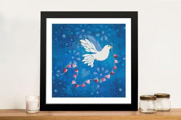 Bird of Peace Framed Dove Wall Art AU