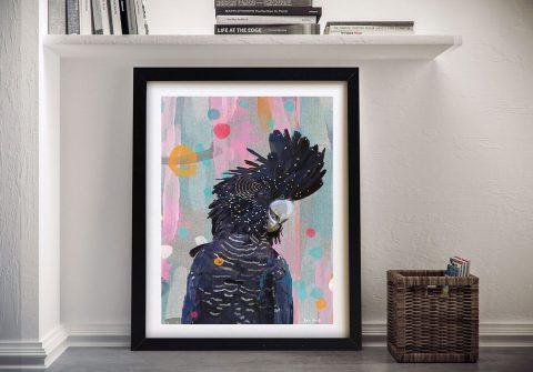 Black Cocky Extrovert Australian Wall Art
