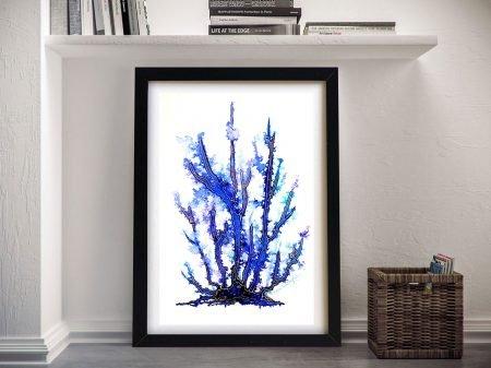 Buy Blue Coral Framed Canvas Artwork