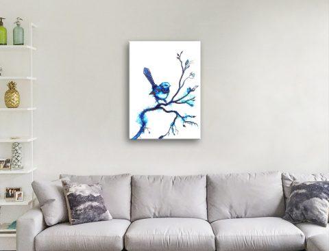 Blue Wren Abstract Art Online Gallery Sale