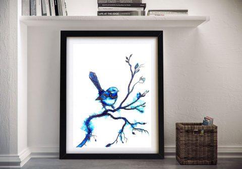 Buy a Blue Wren Linda Callaghan Art Print