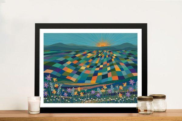 Bright Sun Shiny Day Bright Abstract Art