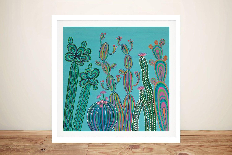 Cactus Party No.3 Framed Kids Art Online