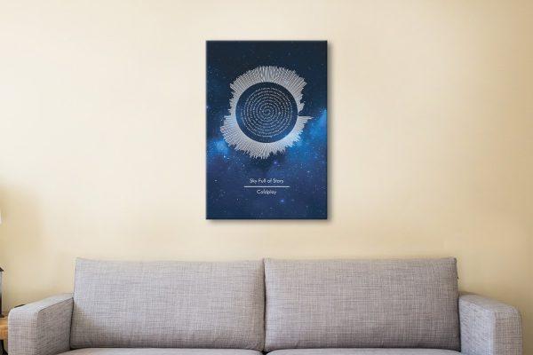 Ready to Hang Coldplay Lyrics Wall Art AU