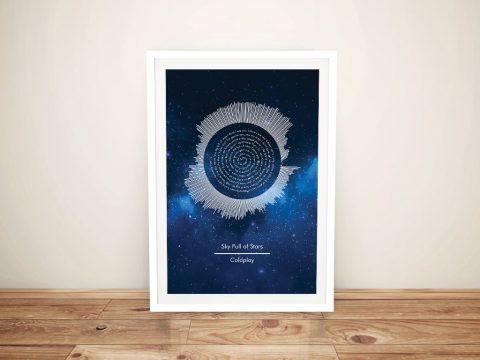 Coldplay A Sky Full of Stars Soundwaves Art