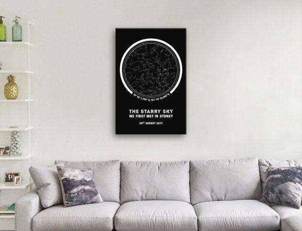 Coordinates Star Map Custom Art Gifts Online