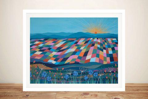 Framed Abstract Landscape Art for Sale
