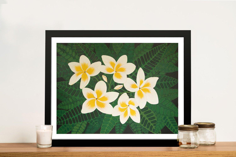 Frangipani Dreams Framed Floral Artwork