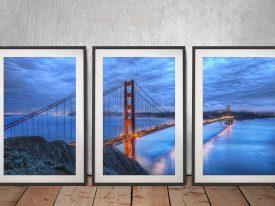Buy a Golden Gate Triptych Canvas Set