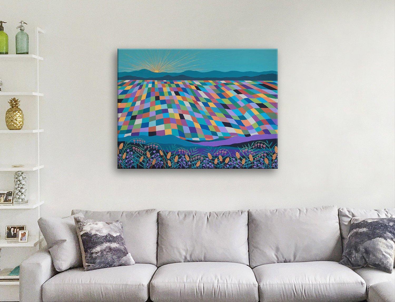 Hello Sunshine Vibrant Abstract Artwork
