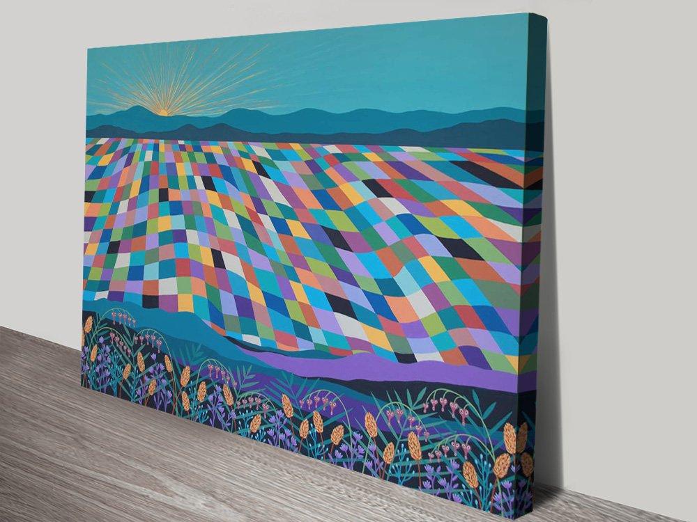 Hello Sunshine Abstract Landscape Wall Art