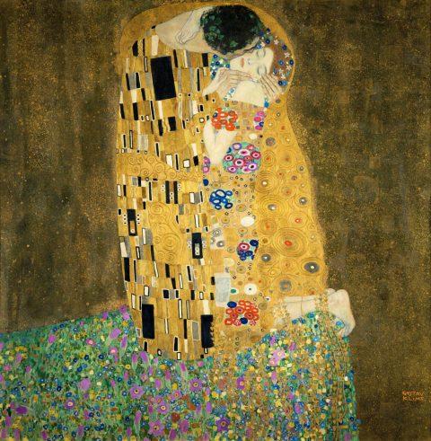 Klimt The Kiss wall art