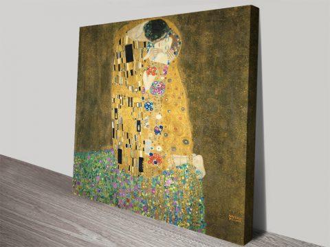 The Kiss Classic Gustav Klimt Print on Canvas