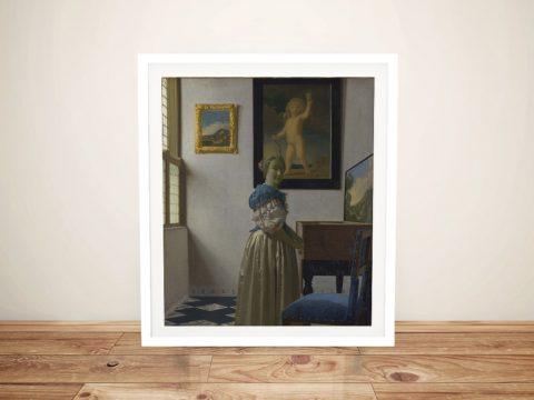 Framed Classic Johannes Vermeer Art for Sale