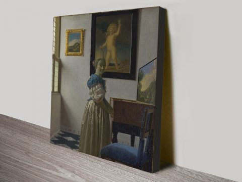Lady Standing at a Virginal Classic Artwork