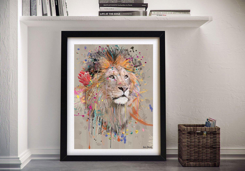 Abstract Lion Wall Art by Karin Roberts