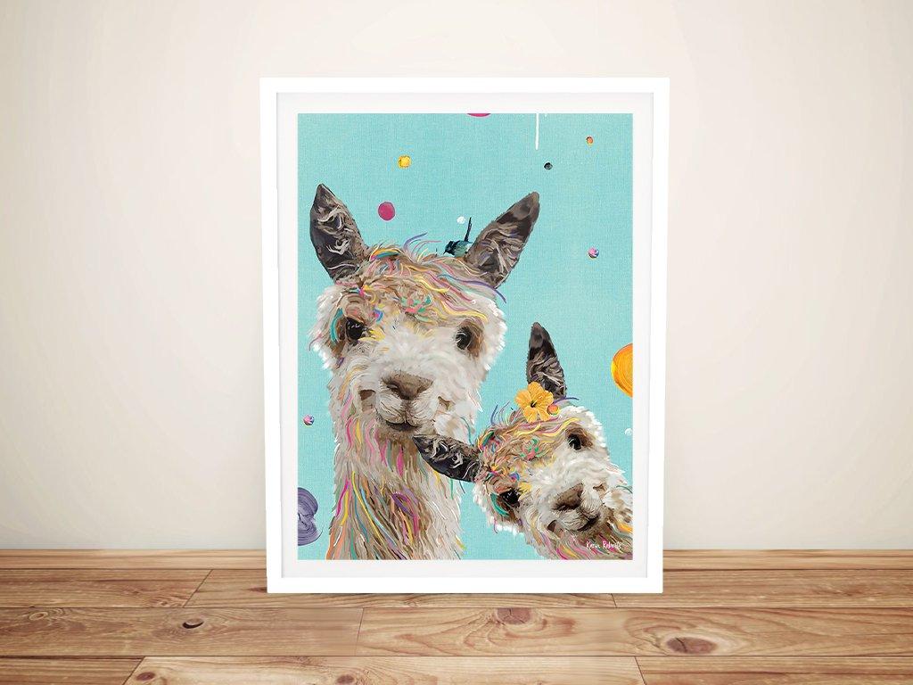 Sweet Llama Kids Wall Art for Sale Online