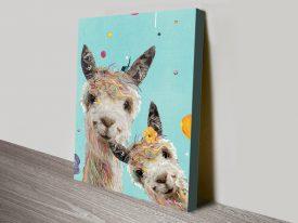 Llama Sisters Cute Karin Roberts Wall Art