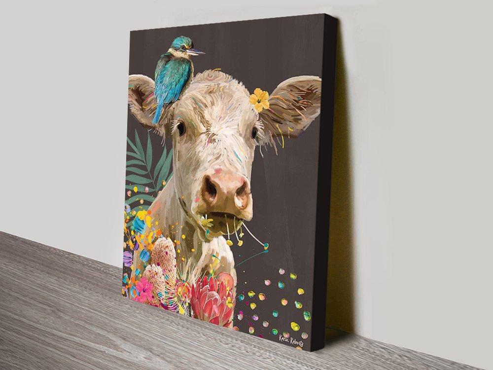 Mavis Cow Playful Art Home Decor AU