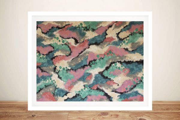 Meandering Home Abstract Print on Canvas