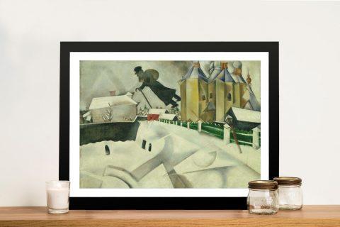 Framed Canvas Print of Over Vitebsk for Sale