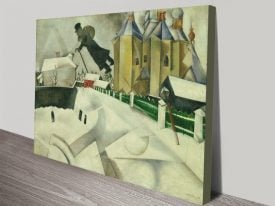 Over Vitebsk Marc Chagall Canvas Print