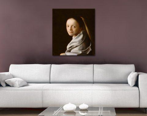 Buy Classic Johannes Vermeer Portrait Prints