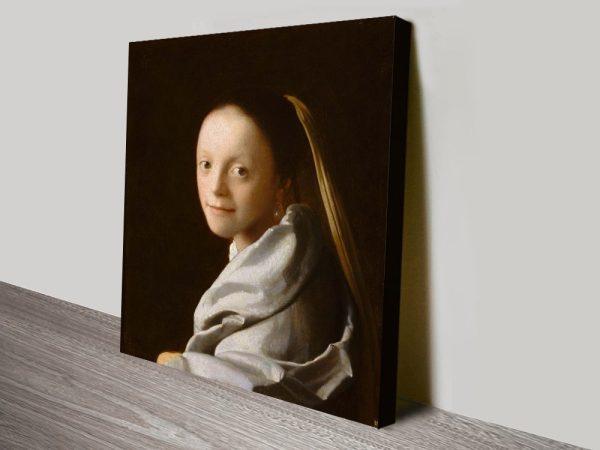 Portrait of a Young Woman Classic Art Print
