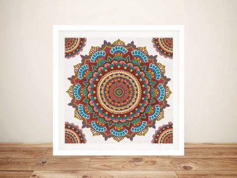 Framed Mandala Art Quality Canvas Prints AU