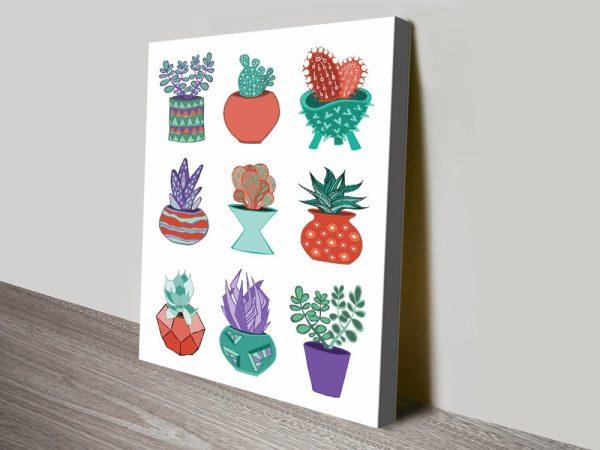 Buy Succulent Mad 2 Vibrant Canvas Art