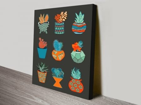 Grey Background Succulent Mad Wall Art