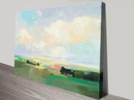 Summer Sky l Landscape Print on Canvas