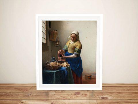 Framed Print of The Milkmaid Gift Ideas AU