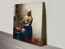 The Milkmaid Classic Art Print on Canvas