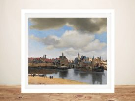 Buy View of Delft Classic Print on Canvas