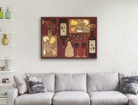 Ready to Hang Wine O'Clock Wall Art