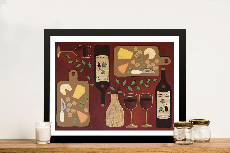 Framed Wine O'Clock Art Home Decor Ideas AU