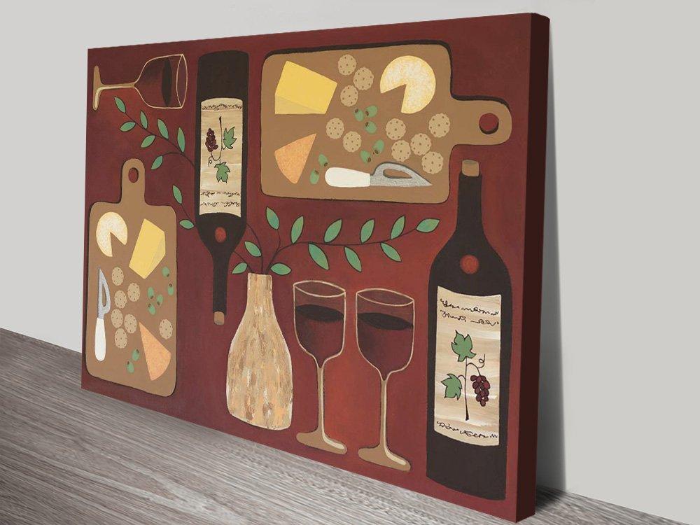 Buy Wine O'Clock Playful Canvas Artwork