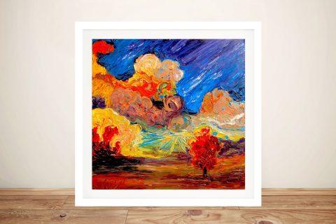 Blessed Framed Abstract Landscape Art AU