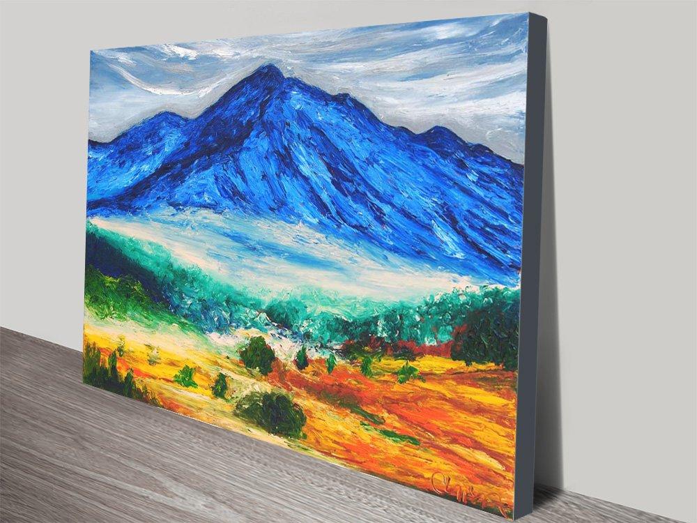 el Nevado de Toluca Colourful Canvas Art