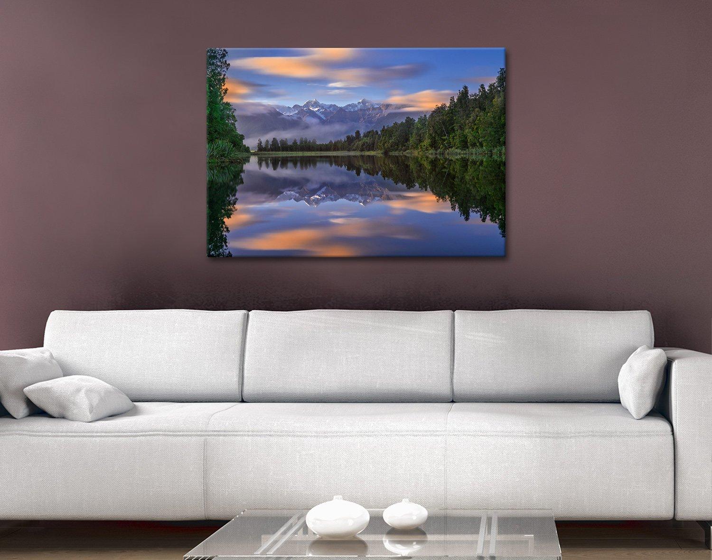 Lake Matheson Ready to Hang Scenic Artwork
