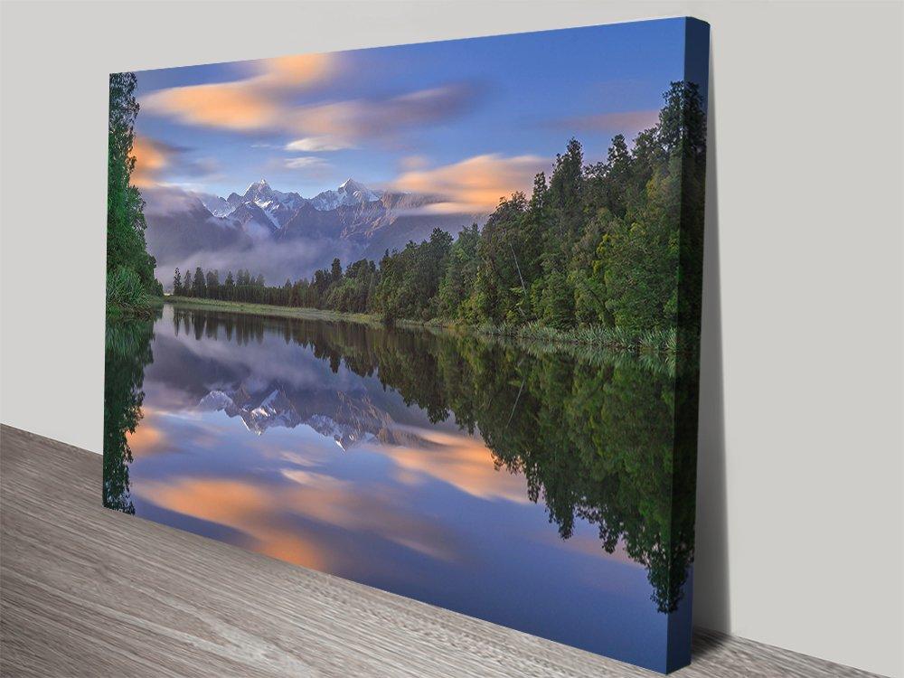 Lake Matheson Landscape Art for Sale AU