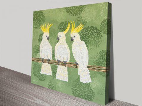 Aussie Cockatoos Wildlife Wall Art
