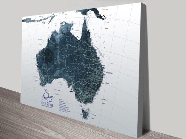 Dark Tones Custom Map Art Gift Ideas Online