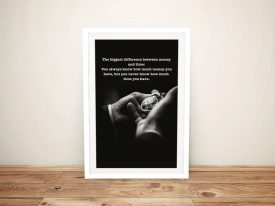 Money & Time Inspirational Wall Art