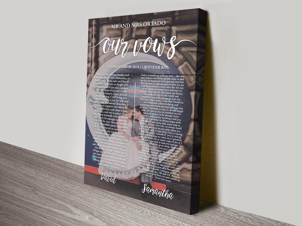 Custom Wedding Vows & Photo Wall Art