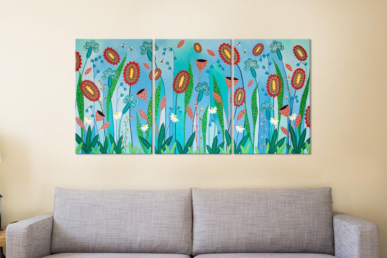 Lisa Frances Judd Floral Triptych Art for Sale
