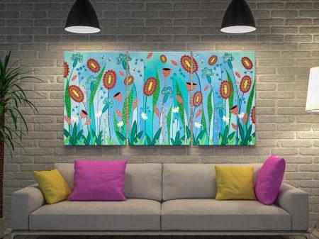 Blooming Abundance 3-Panel Floral Wall Art